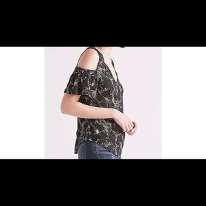 Lucky Brand Women's Cold Shoulder Top